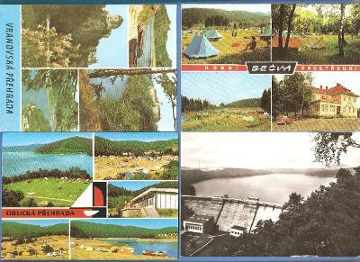 PŘEHRADY - VRANOVSKÁ - ORLICKÁ - HORNÍ BEČVA - VF pohlednice *p31