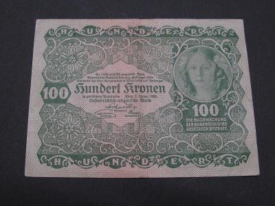 RAKOUSKO : 100 kronen 1922