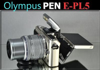 💥 Olympus PEN E-PL5 **Bezzrcadlovka S OBJEKTIVEM**  👍TOP 2700 Exp.