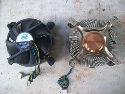 Chlazení procesoru socket 775 Intel, kompletní sada pro staré počítače