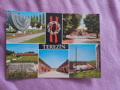 Pohlednice Terezín,neprošlé poštou