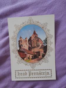 Pohlednice hrad Pernštejn,neprošlé poštou