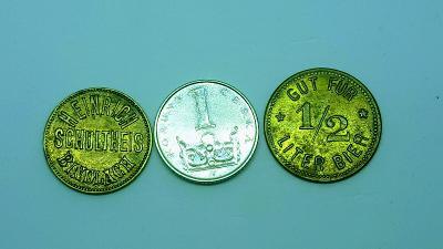 Soubor tel/výtah/paměť/pivních, žetonů, ú. známek, medaili, etc.