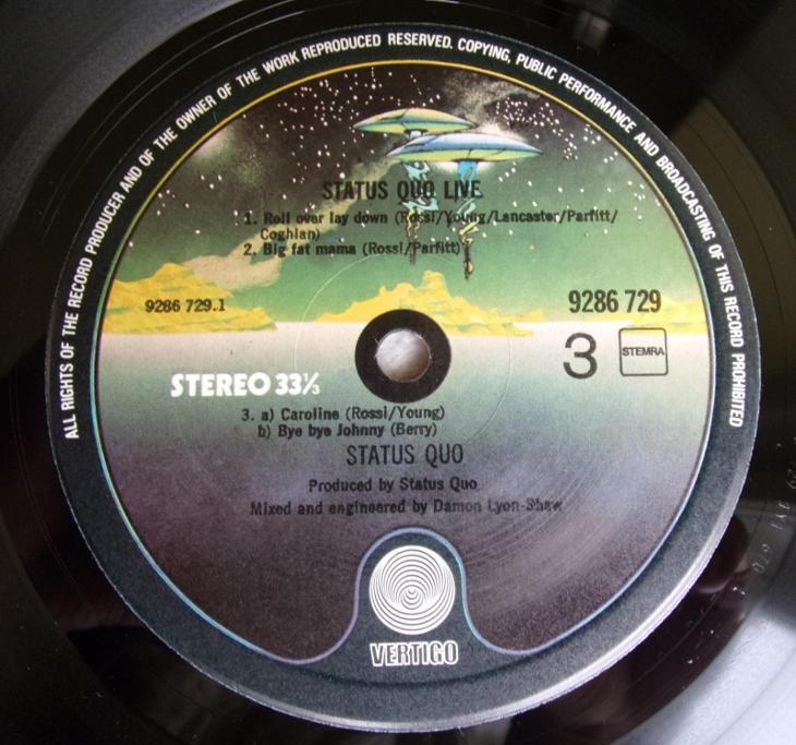 💥 2LP album: STATUS QUO - LIVE!, 1st pressing Holland 1977 - Hudba
