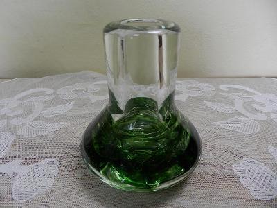 Zajímavá masivní zelená Váza františek Vízner Škrdlovice
