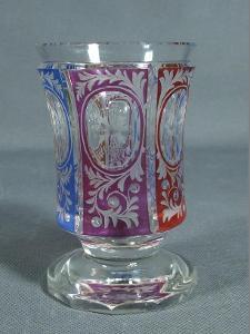 Starožitná sklenice Egermann,  rok cca 1850,  v12,5cm