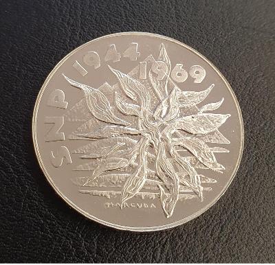 Luxusní pamětní mince 25 Kčs 1969 - 25 let SNP ,,PLAMENY,, - PROOF !!