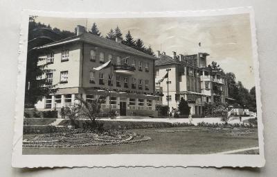 Pohled  Lázně luhačovice - dům B. Smetany