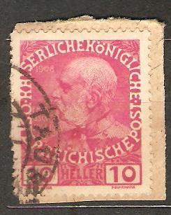 Austria 1908 Mi 144 raz. Taus