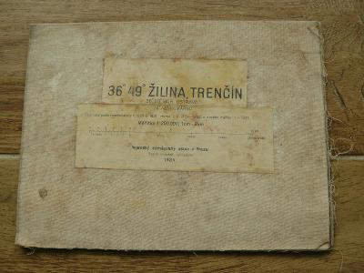 MAPA ŽILINA,TRENČÍN 1924