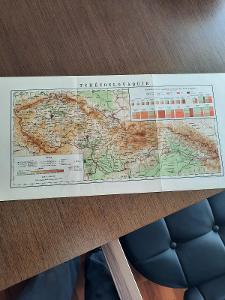 stará mapa 1. republiky , 56 x 28 cm, velmi zajímavá