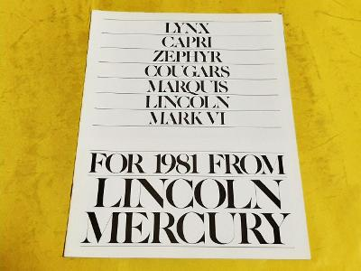 --- Lincoln-Mercury 1981 ----------------------------------------- USA