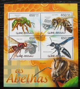 Guinea-Bissau 2012 Včely Mi# 5982-85 Kat 10€ 2053