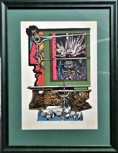 Josef Liesler / barevná litografie
