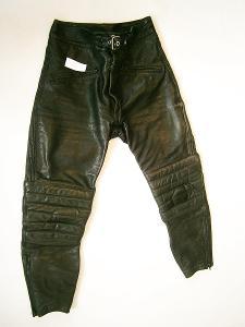 Kožené kalhoty - vel.?, pas: 78 cm