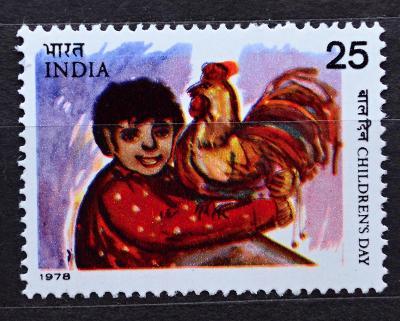 **INDIA, 1978. Umění-Den dětí, Mi.774 / KT-214