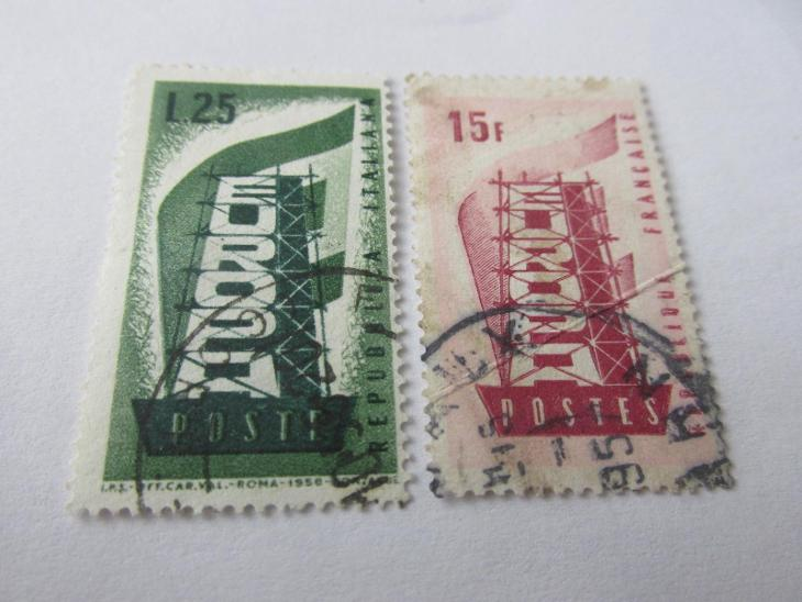 Prodávám známky  Evropa 1956, Francie a Itálie - Filatelie