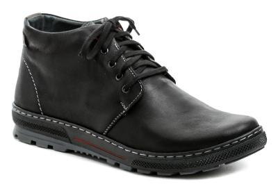 Kotníkové pánské zimní boty Wawel MA440 černá vel.44, NOVÉ