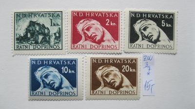 Chorvatsko - čisté známky ZW katalogové číslo 3/7