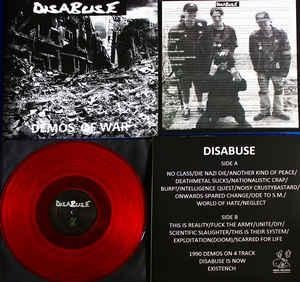 DISABUSE Demos of War LP  - Hudba