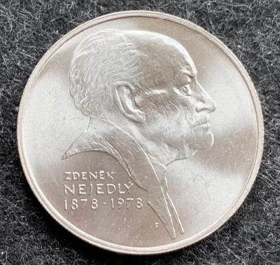 🌶 Stříbrná Mince 50 Kčs Zdeněk Nejedlý 100. výročí narození 1978