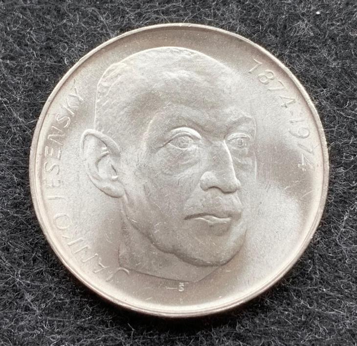 🌶 Stříbrná mince 50 Kčs J. Jesenský 100. výročí 1974 - Numismatika