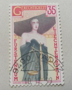 Známka Lichtenštejnsko