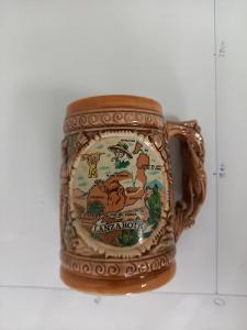 Keramický pivní džbánek z Lanzarote