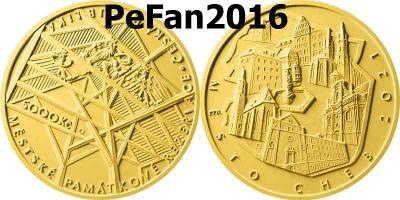 Zlatá mince - Městská památková rezervace Cheb - BK