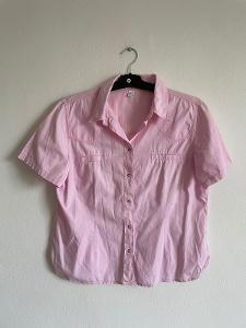Dámská růžová bavlněná halenka košile vel. 42