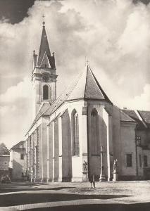 Třeboň - kostel sv. Jiljí, polovina 14. století, VF, neprošlá