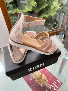 Luxusní nové celokožené sandály  SPM v. 41