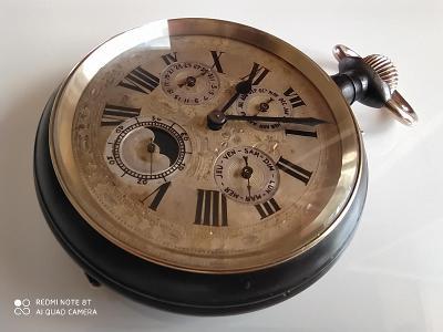 Obrovské raritní lunární hodinky 8cm