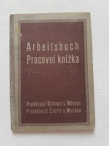 Pracovní knížka Arbeitsbuch Protektorát Veselí Litovel 1941 Dřevorubec