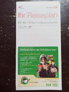 Jízdní řád - vlakový průvodce - EC 45/46 BERLIN-WARSZAWA-EXPRESS