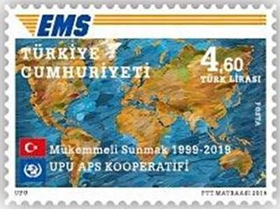 Turecko 2019 známky Mi 4541 ** EMS pošta mapa společné uvolnění