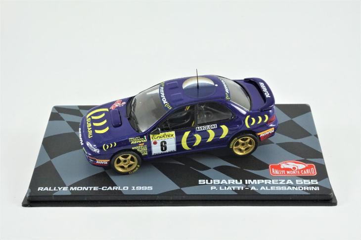 1:43 Eaglemoss Subaru Impreza 555 gr.A Rallye Monte Carlo 95 WRC Rally - Modelářství
