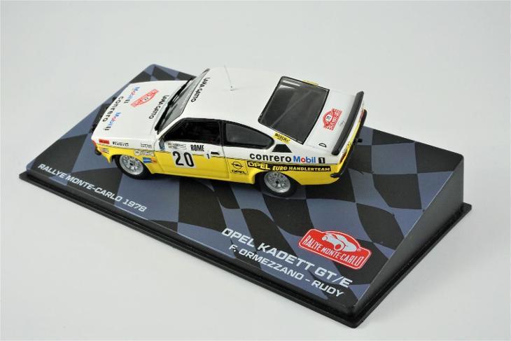 1:43 Eaglemoss Opel Kadett Rallye Monte Carlo 1978 Ormezzano wrc rally - Modelářství