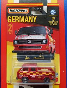 VW Transporter  Crew Cab 1990  nářadí na korbě MB 2/12 Matchbox