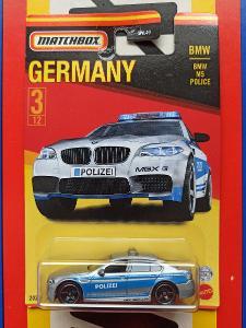BMW M5 Police Polizei Germany MB 3/12 Matchbox