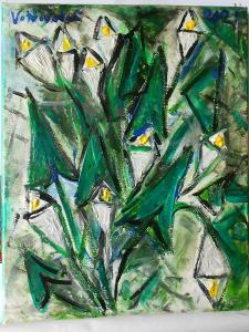 Obraz akryl originál autorská malba    Kubistické kaly