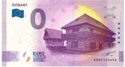 0 Euro souvenir bankovka 2021 ČIČMANY
