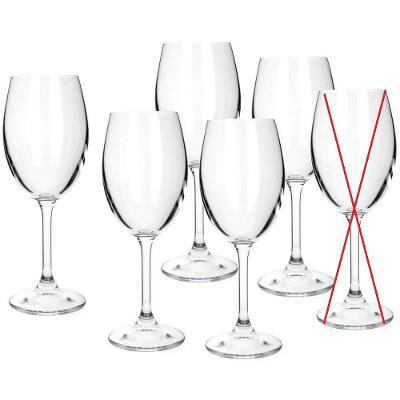 Banquet Crystal Leona sklenice na bílé víno, 230ml, 6ks - Nekompletní