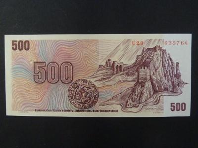 500 Kčs 1973 série U 29 stav -N-
