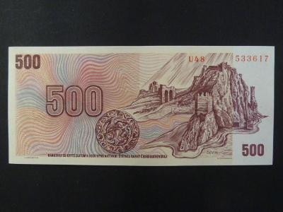 500 Kčs 1973 série U 48 stav -N-