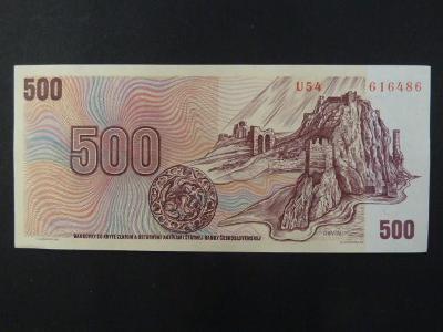 500 Kčs 1973 série U 54 stav -N-