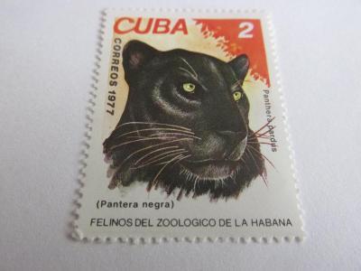 Prodávám známky Kuba 1977, Kočky ze ZOO Havana, Leopardi