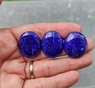 Lapis lazuli - souprava, ID 2053, 23x20 mm  - 1x,    25x20 mm - 2x