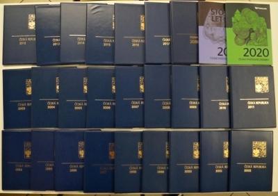 KOMPLETNÍ ROČNÍKOVÁ ALBA 1994-2020, CELKEM 27 KS, VŠE NAFOCENO