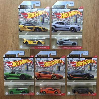 Sada Hot Wheels 1/4 mile- 5 modelů Bugatti McLaren Lambo Dodge Porsche